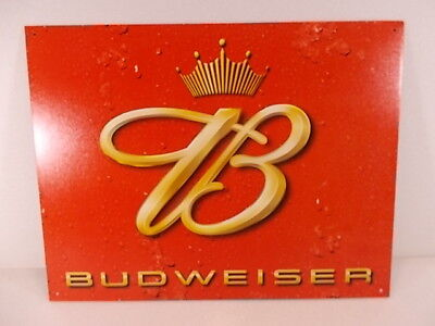 $ CDN30.32 • Buy 2002 BUDWEISER  BUD CROWN  METAL SIGN / NEW / 12.5 X 16