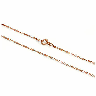 £33 • Buy 9ct Rose Gold Hammered Trace Chain 16 - 24 Inches