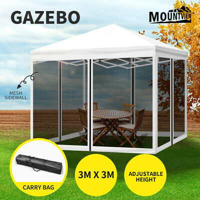 AU135.99 • Buy Mountview Gazebo 3x3 Marquee Pop Up Tent Outdoor Canopy Wedding Mesh Side Wall