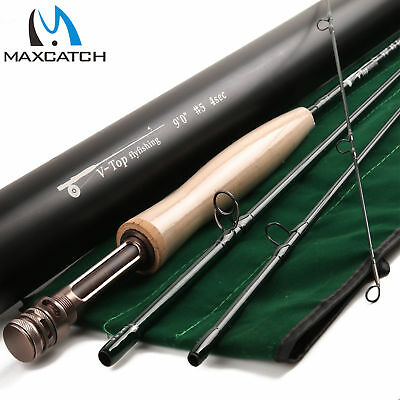 $ CDN160.90 • Buy Maxcatch Fly Rod V-TOP 9FT 5/6/8WT 4 Piece Fast Action (IM12) With Aluminum Tube