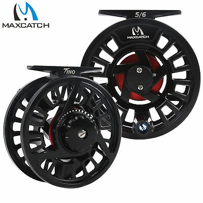 $ CDN61.32 • Buy Maxcatch TINO Fly Fishing Reel 5/6 7/8WT Large Arbor Trout Right/Left Handed