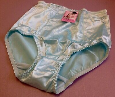$12.99 • Buy Women Briefs,Control Panties Ann Diane Size XL. Blue Satin W/2 Secret Pockets