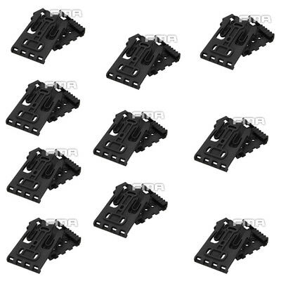 $ CDN99.92 • Buy 10PCS FMA TB1042 Safariland Holster QLS Quick Locking System Kit Black / Desert