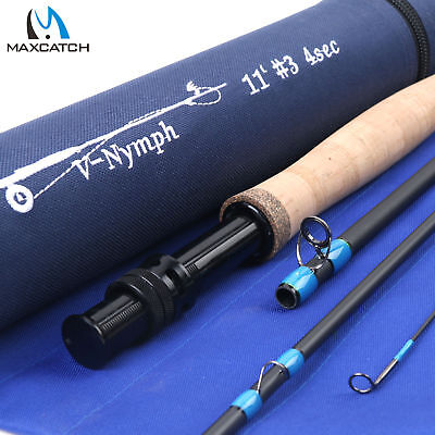 $ CDN107.72 • Buy Maxcatch Nymph Fly Fishing Rod 10FT/11FT 2/3/4WT 4Sec Fast Action Graphite IM10