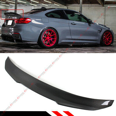 $169.99 • Buy For 2015-19 Bmw F82 M4 Psm Style High Kick Carbon Fiber Trunk  Lid Spoiler Wing