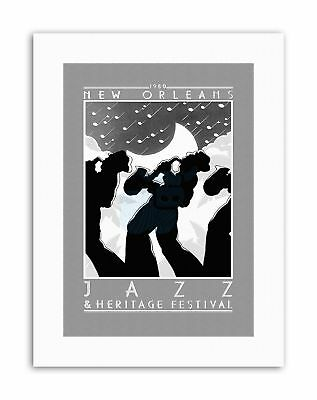 MUSIC CONCERT JAZZ HERITAGE FESTIVAL 1980 NEW ORLEANS USA Poster Picture Music • 12.50£
