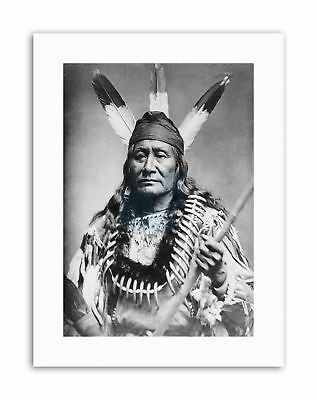 Y RUSHING EAGLE SIOUX NATIVE AMERICAN Poster Picture Vintage Portrait • 12.50£