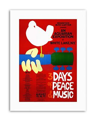 MUSIC FESTIVAL CONCERT WOODSTOCK NY PEACE DOVE LOVE LEGEND Music Canvas Art • 12.50£