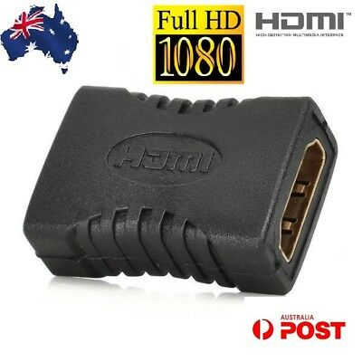 AU4.25 • Buy HDMI Female To Female Joiner Connector Coupler Adapter