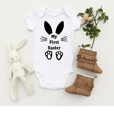 My First Easter Baby Vest All In One Bodysuit Romper 1st Easter • 4.99£