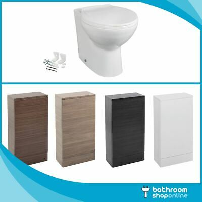 Bathroom WC Toilet Unit With Modern Toilet Pan Concealed Cistern Soft Close Seat • 179.95£