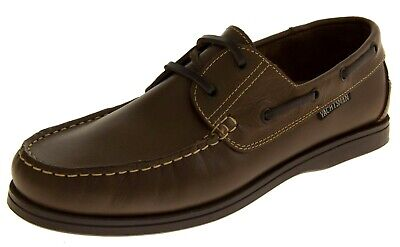 Mens Leather YACHTSMAN Lace Up Boat Loafers Casual Sailing Deck Shoes UK 7 10 • 49.95£