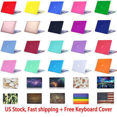 $13.75 • Buy Rubberized Hard Case For MacBook Air/ Pro/ Retina 11/12/13/15  + Keyboard Cover