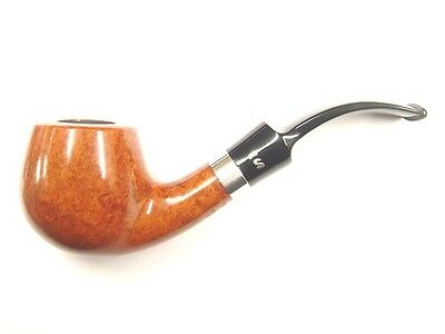 AU283.63 • Buy Stanwell Sterling Brown Polished Briar 9mm Filter Pipe - Shape No.84