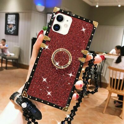 AU14.24 • Buy Luxury Bling Sparkle Glitter Square Case Cover For IPhone 12 11 Pro Max Xr XS 8+