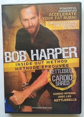 Bob Harper Inside Out Method  Kettlebell Cardio Shred  DVD (2010) NEW Sealed • 20.47£