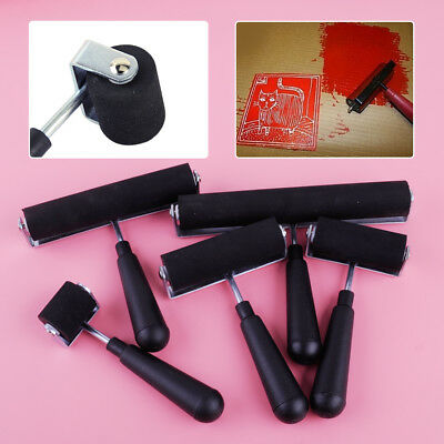 £5.57 • Buy Heavy Duty Hand Rubber Roller Brayer Printing Inks Wall Oil Paint Art Craft Tool