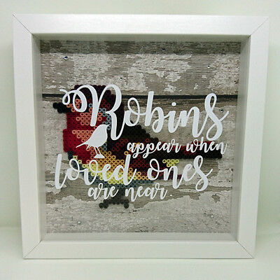 Robins Appear When Loved Ones Are Near Framed 3D Box Frame Home Decor Gift Idea • 19£