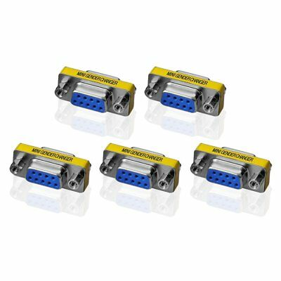 AU16.51 • Buy 5 X 9Pin RS-232 DB9 Female To Female Serial Cable Gender Changer Coupler Adapter
