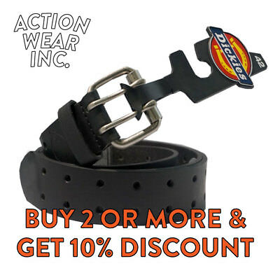 $19.95 • Buy Dickies Men's 2 Hole Leather Belt Double Prong Bridle Industrial Strength Belt
