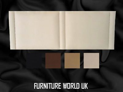 VEGAS All Colours Double Headboard 4'6  Faux Suede 20 H • 41.40£