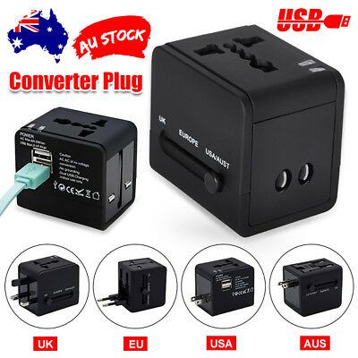 AU14.95 • Buy Universal International Travel Adapter 2 USB Power Plug Charger Converter Socket