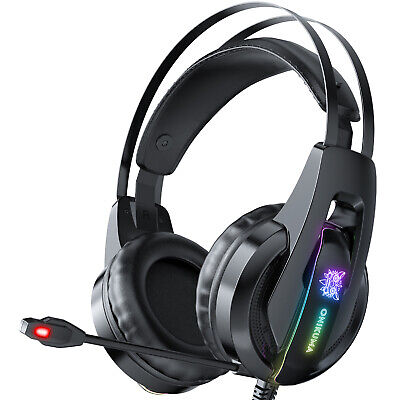 £15.95 • Buy 3.5mm Gaming Headset MIC LED Headphones For PC Laptop PS5 PS4 Slim Xbox One S X