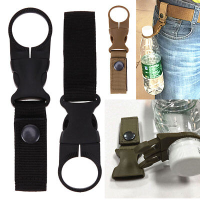 Tactical Molle Key Hook Hanging Belt Carabiner Webbing Water Bottle Buckle Clip • 4.19£
