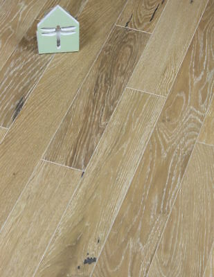 £0.99 • Buy 90mm Brushed And Limed Smoked White Oak Engineered Wood Flooring Packs T&G