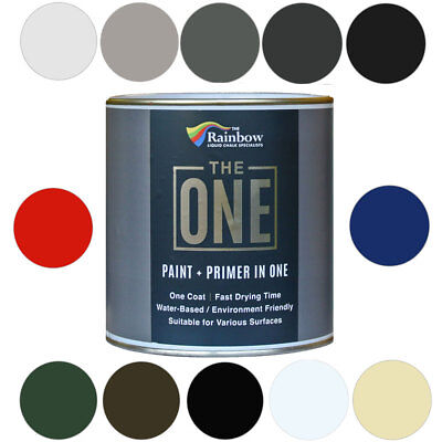 The One Paint  Gloss Finish Multi Surface Paint *NO UNDERCOAT/PRIMERS REQUIRED* • 12.99£