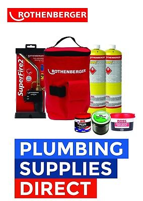 £109.99 • Buy Rothenberger Plumbers Hot Bag - Superfire Torch Gas & Soldering Kit