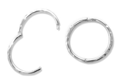 £9.99 • Buy Sterling Silver 925 Solid Hinged D/C Sleeper Earrings Approx`sizes 11 12 16mm