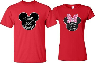 $10.99 • Buy FAMILY VACATION Disney New 2019 Mickey & Minnie T-Shirts ALL SIZES 12 MONTH-4XL