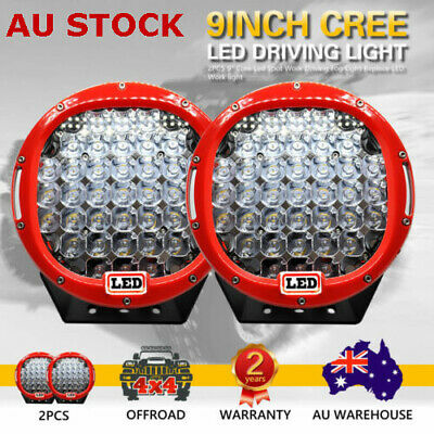 AU119.75 • Buy 2 X 99999W 9inch Cree LED Driving Lights Round LED Spotlights Work  OFFROAD RED