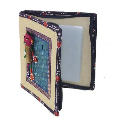 Handmade CD Holder Carry Case Tribal Vintage Printed Fabric CD Storage Wallet  • 4.99£