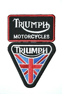 Triumph Collection Patch Motorcycle Iron On Sew On Embroidered Badge Patch • 1.85£