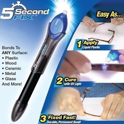 AU9.99 • Buy 5 Second Fix UV Light Cure Welding Compound Glue Pen Liquid Glass Plastic Repair