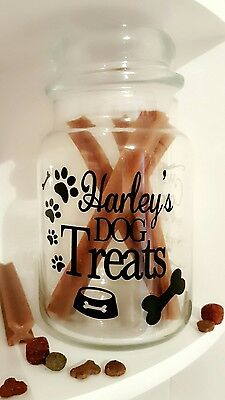 £3.95 • Buy Personalised Dog Treat Sticker Label For Storage Jar/Tin Name Puppy Treats Gift