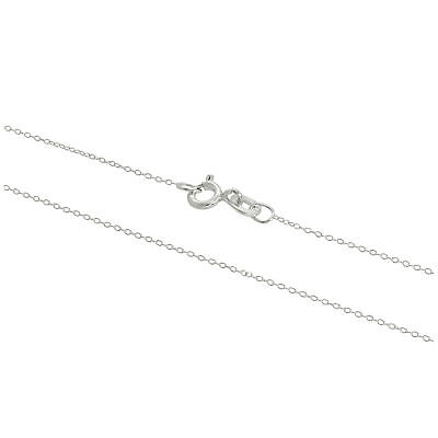 Real 925 Sterling Silver Fine 0.8mm Cable Chain 14 - 32 Inches Chains • 3.75£
