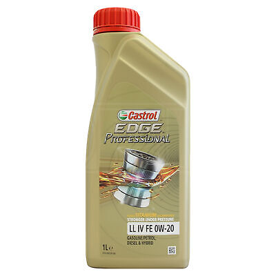 Castrol Edge Professional LL IV FE 0W-20 0W20 Fully Synthetic Engine Oil 1 Litre • 15.95£