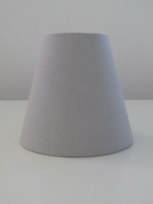 £19.45 • Buy Lampshade Textured Linen Small Candle Clip Tapered