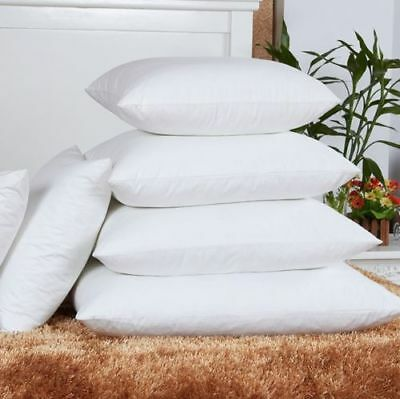 £7.99 • Buy FINEST DUCK FEATHER CUSHION PADS INNERS INSERTS FILLERS SCATTERS Cotton Cover