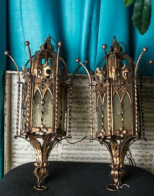 $500 • Buy Repurposed Antique French Gothic Or Victorian Style Lamp Set Replica