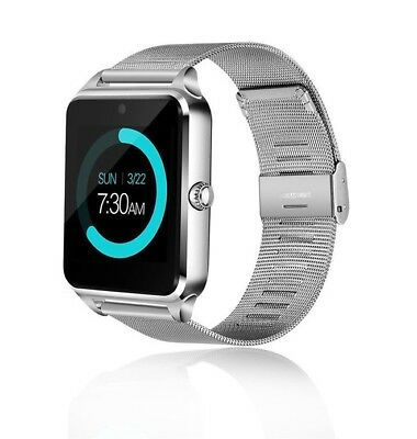 AU22.55 • Buy Silver Smart Watch For Samsung IPhone 8 X XR XS MAX LG G8 G7 Android Wrist Phone