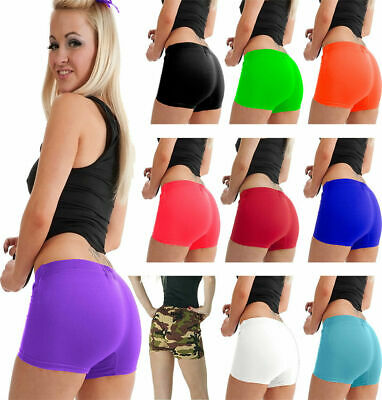 £4.99 • Buy Womens Ladies Girls Neon Lycra Stretchy Sexy Hot Pants Dancing Party Shorts