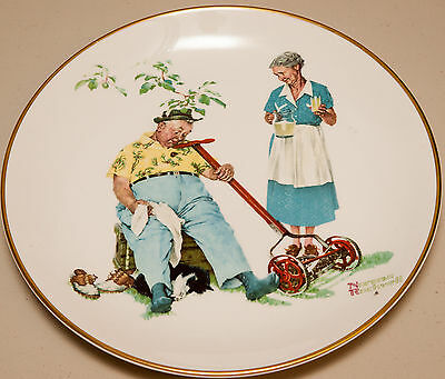 $ CDN13.99 • Buy Norman Rockwell Collectable Plate  Summer - Cool Aid  (Very Good)