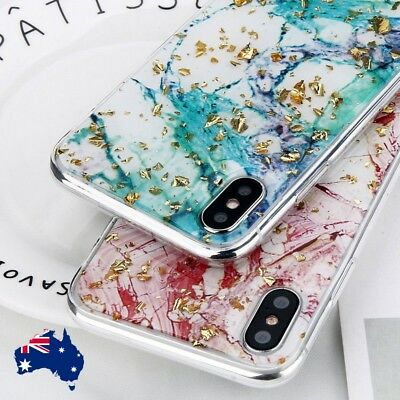 AU7.19 • Buy For IPhone XR X XS Max 8 7 6 Plus Bling Glitter Marbel Thin TPU Case Cover