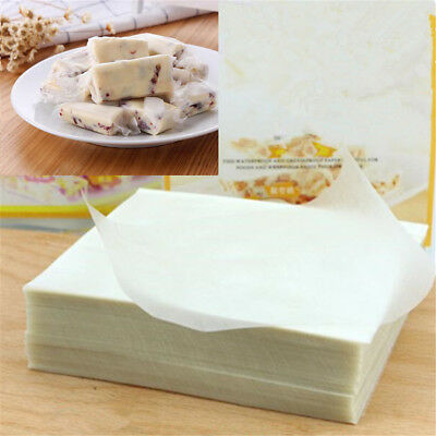 £3.78 • Buy 500 Sheets Edible Glutinous Rice Paper Xmas Wedding Candy Food Sweets Wrapping