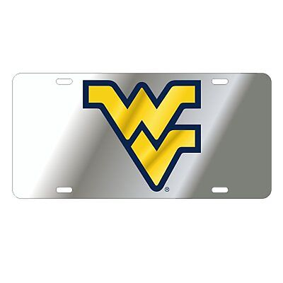$ CDN30.17 • Buy WVU WEST VIRGINIA Mountaineers Silver Mirrored License Plate / Car Tag