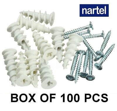 £3.59 • Buy Plasterboard Nylon Fixings Self Drill Cavity Wall Speed Anchor Plugs And Screws